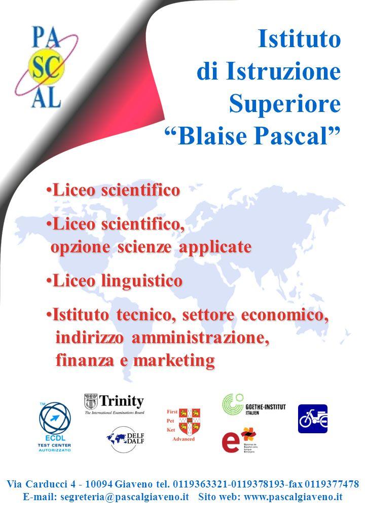 di Istruzione Superiore Blaise Pascal