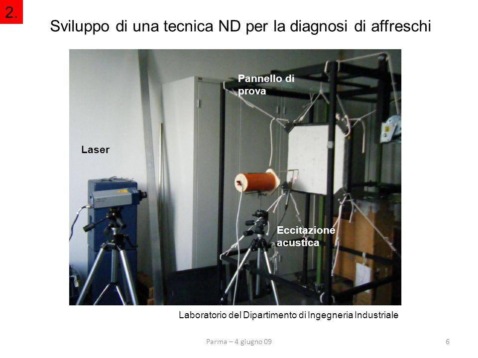 Sviluppo di una tecnica ND per la diagnosi di affreschi
