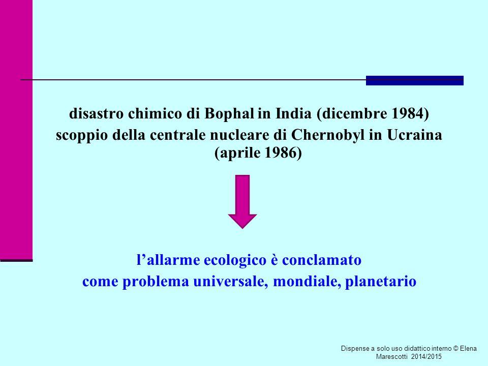 disastro chimico di Bophal in India (dicembre 1984)