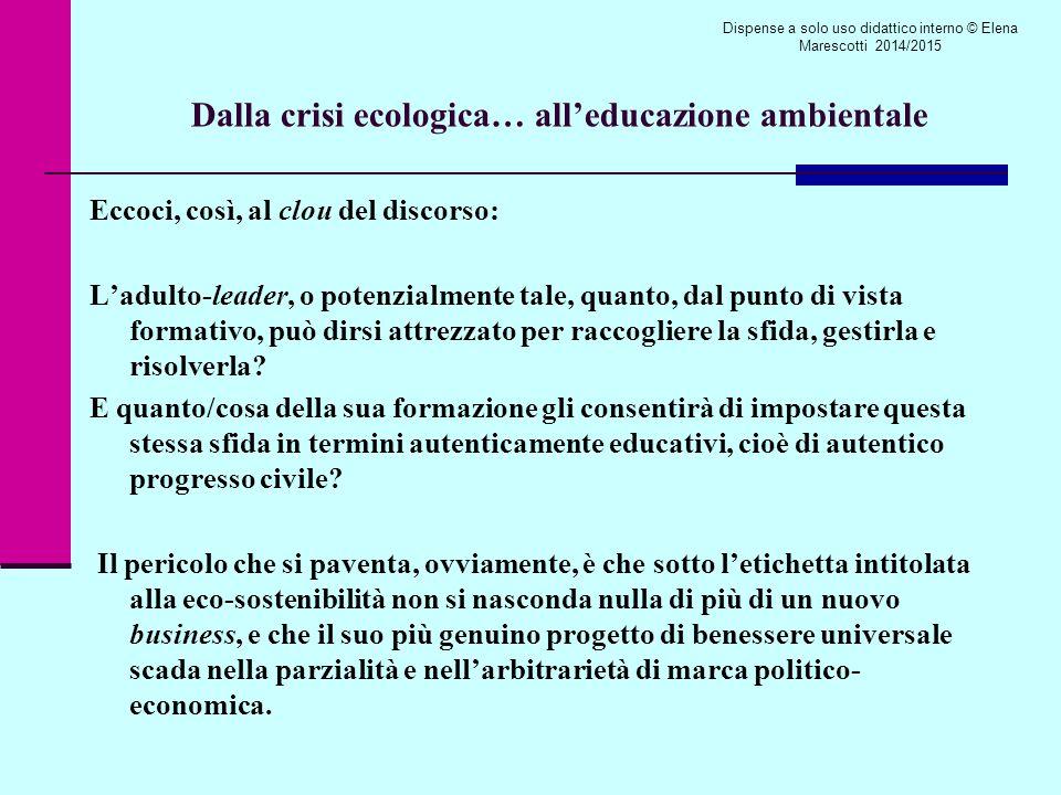 Dalla crisi ecologica… all'educazione ambientale