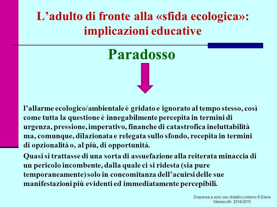 L'adulto di fronte alla «sfida ecologica»: implicazioni educative