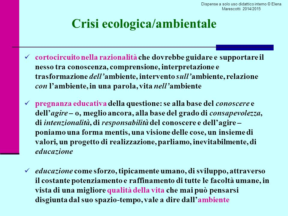 Crisi ecologica/ambientale