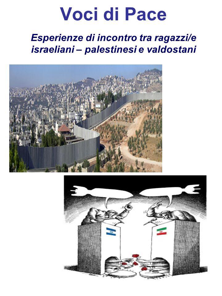 Voci di Pace Esperienze di incontro tra ragazzi/e israeliani – palestinesi e valdostani