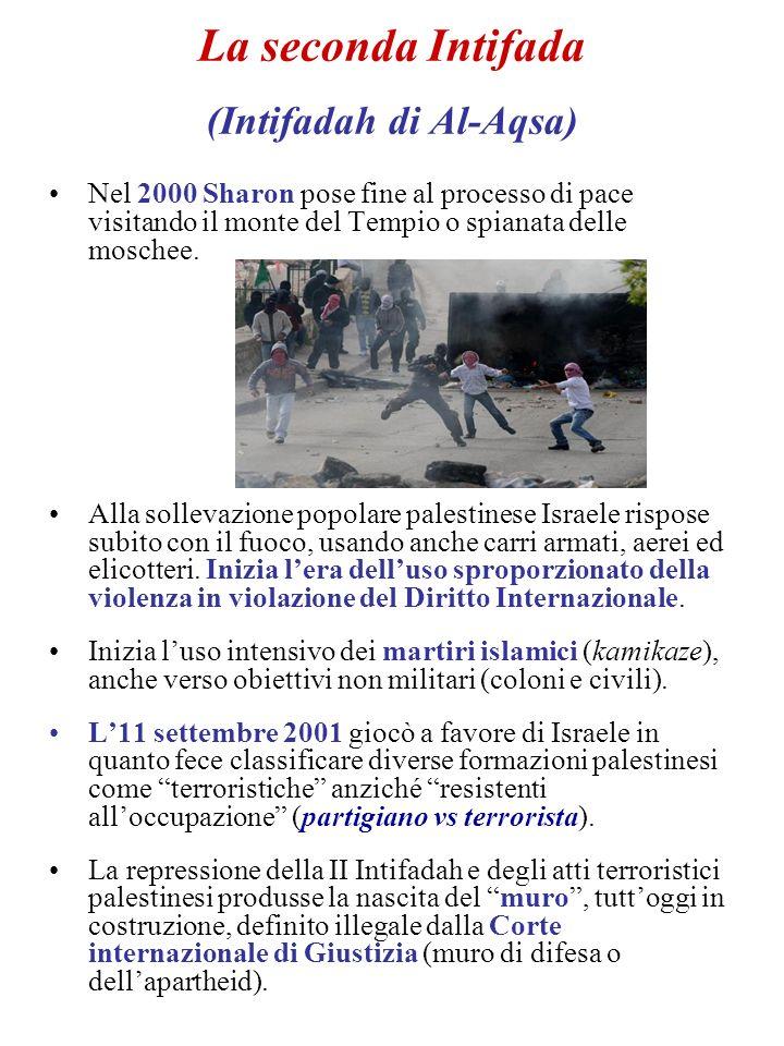 La seconda Intifada (Intifadah di Al-Aqsa)