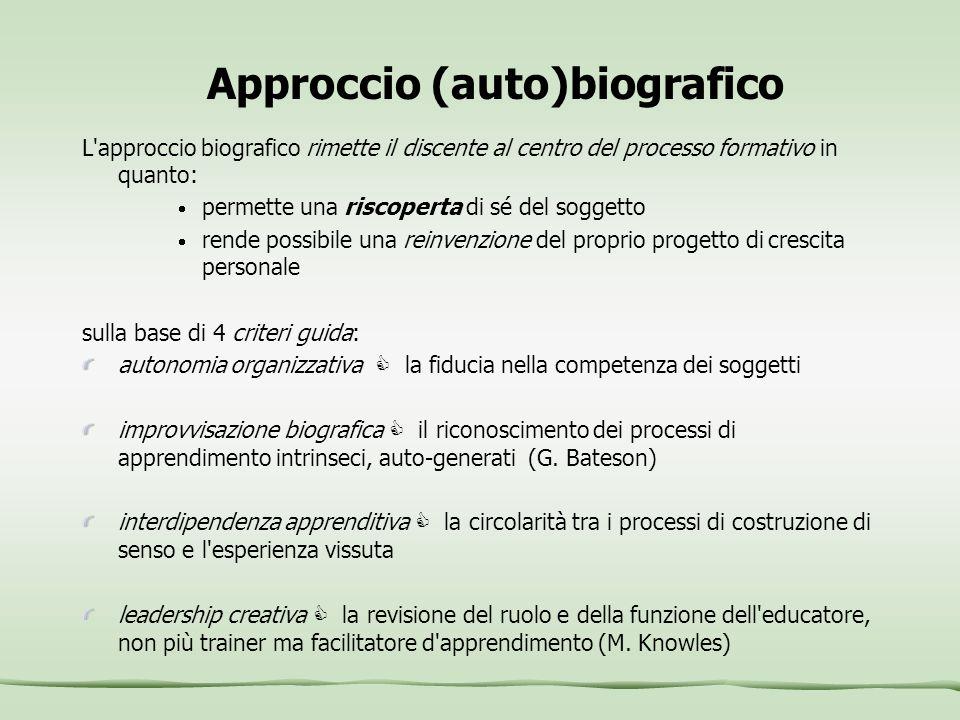 Approccio (auto)biografico
