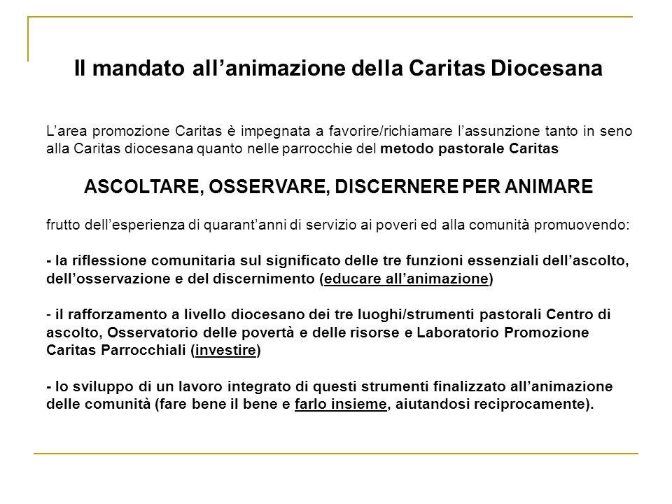 Il mandato all'animazione della Caritas Diocesana
