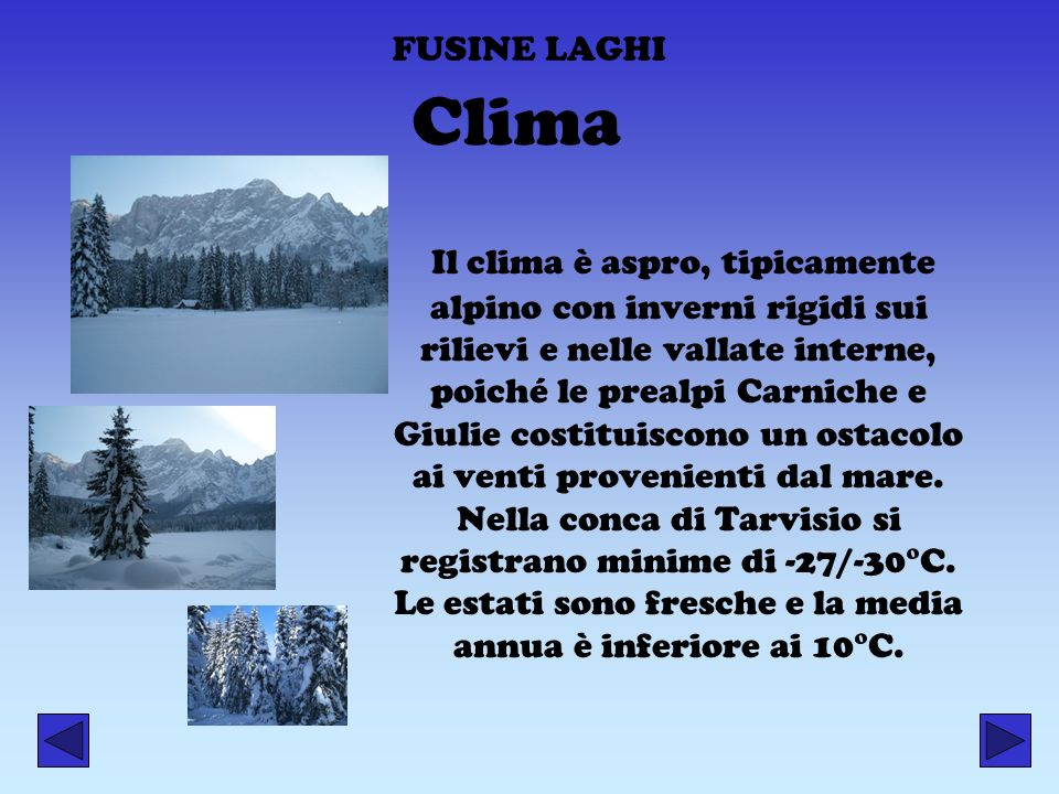FUSINE LAGHI Clima.