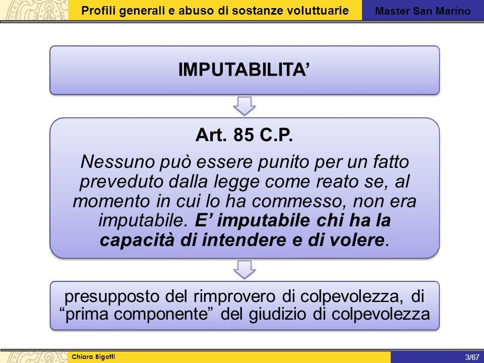 IMPUTABILITA' Art. 85 C.P.