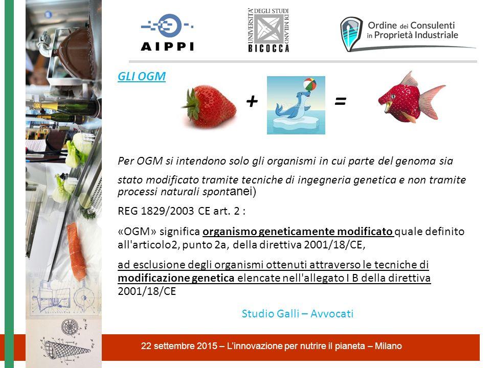 22 settembre 2015 – L'innovazione per nutrire il pianeta – Milano