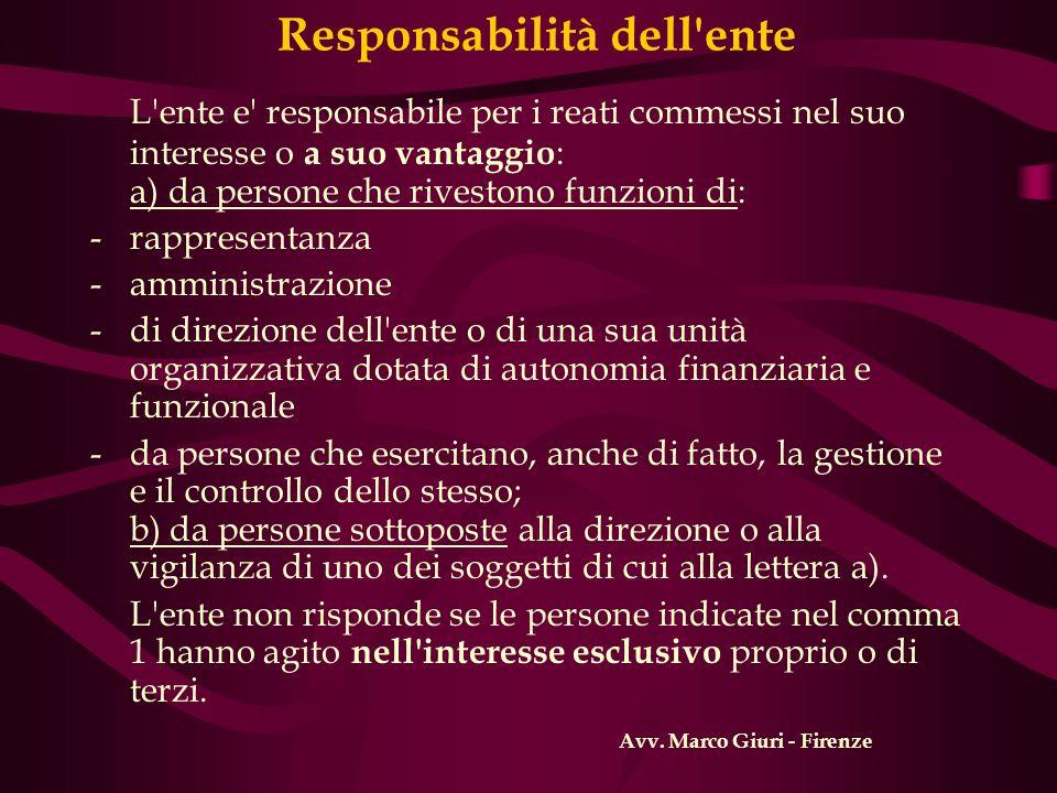 Responsabilità dell ente