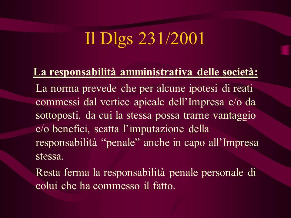 La responsabilità amministrativa delle società: