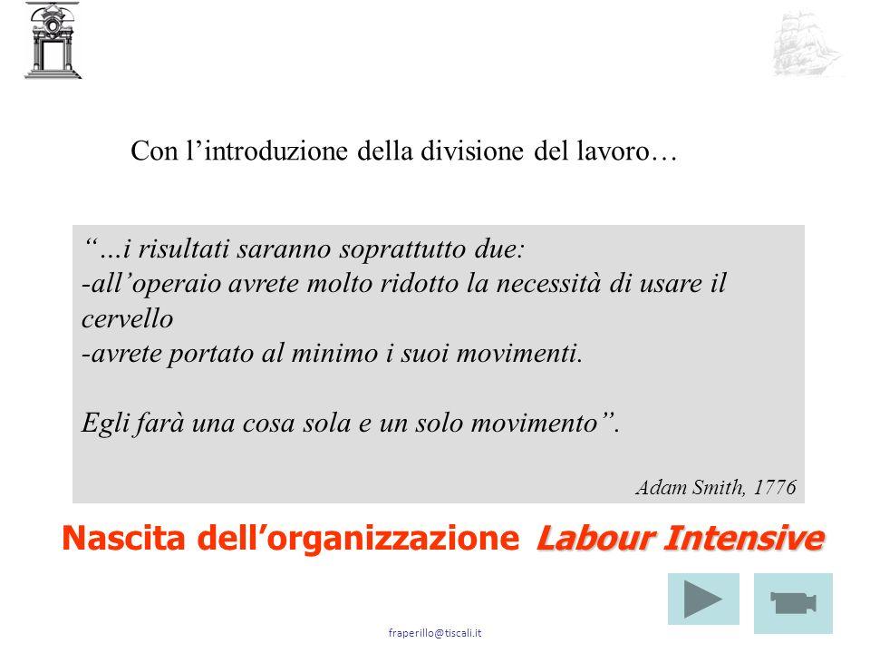 Nascita dell'organizzazione Labour Intensive