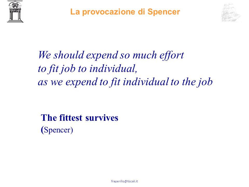 La provocazione di Spencer