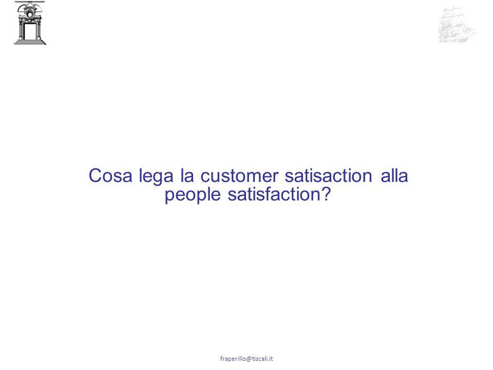 Cosa lega la customer satisaction alla people satisfaction