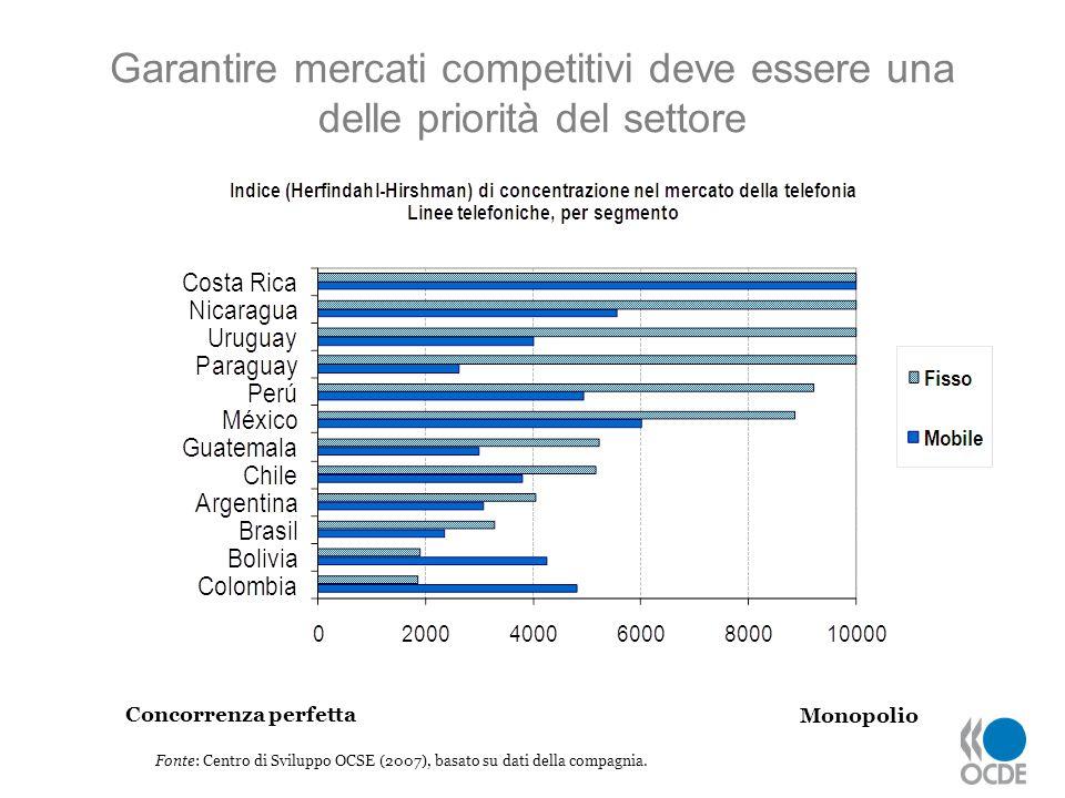 Fonte: Centro di Sviluppo OCSE (2007), basato su dati della compagnia.