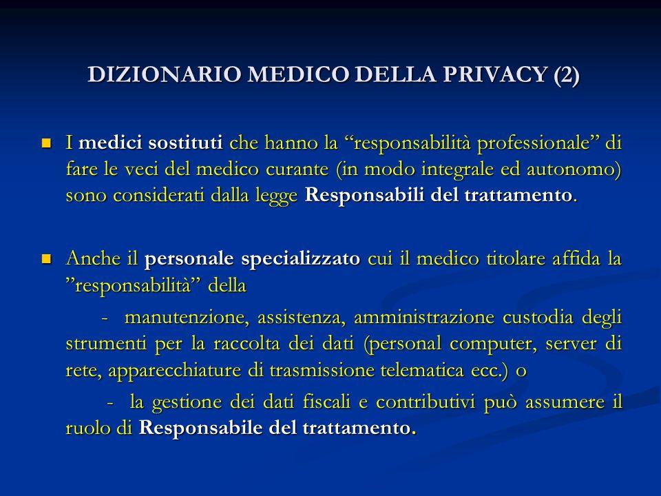 DIZIONARIO MEDICO DELLA PRIVACY (2)
