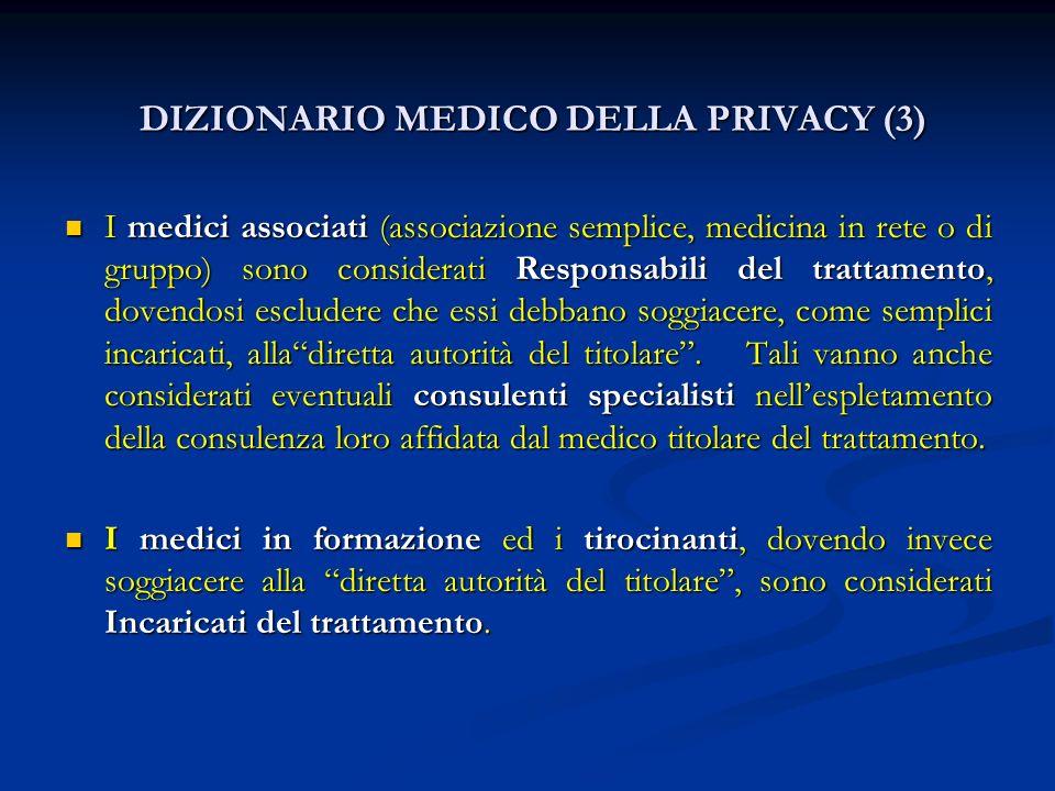 DIZIONARIO MEDICO DELLA PRIVACY (3)