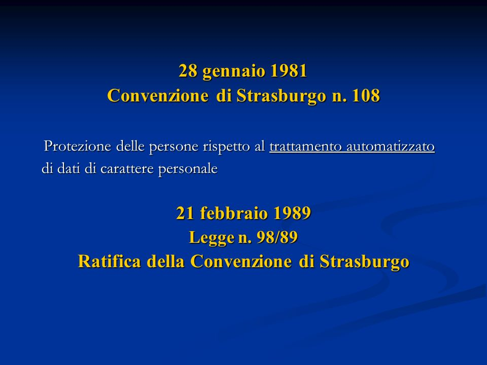Convenzione di Strasburgo n. 108