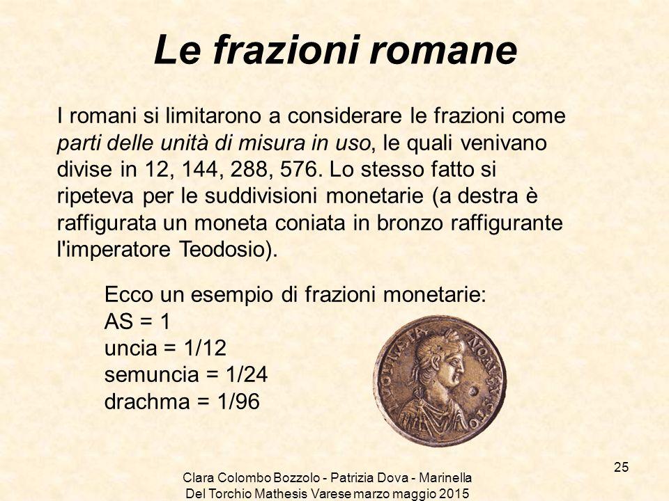 Le frazioni romane