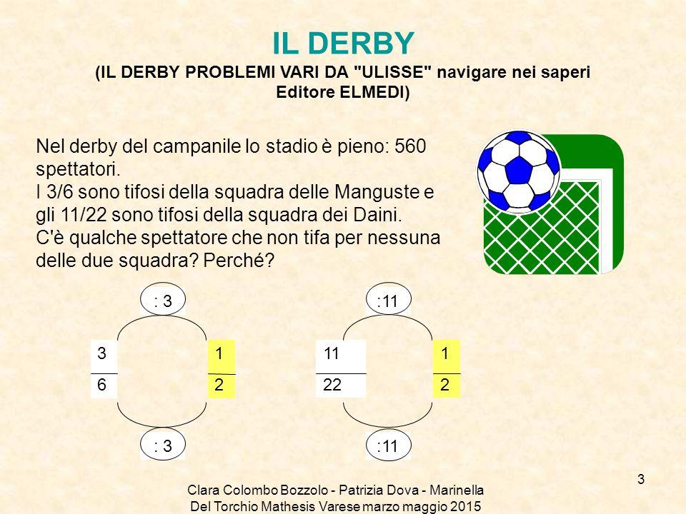 IL DERBY (IL DERBY PROBLEMI VARI DA ULISSE navigare nei saperi Editore ELMEDI)