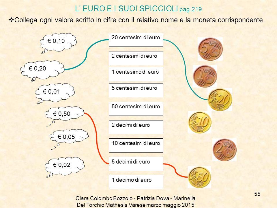 L' EURO E I SUOI SPICCIOLI pag.219