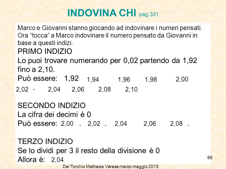 INDOVINA CHI pag.331 PRIMO INDIZIO