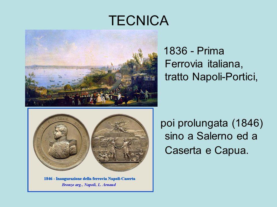 TECNICA 1836 - Prima Ferrovia italiana, tratto Napoli-Portici,