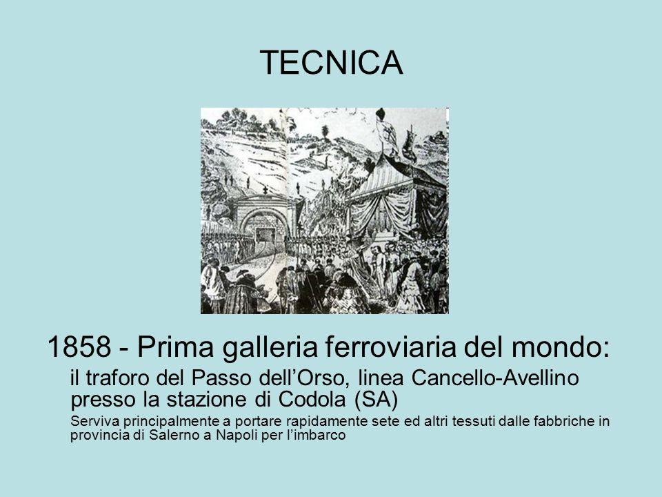 TECNICA 1858 - Prima galleria ferroviaria del mondo: