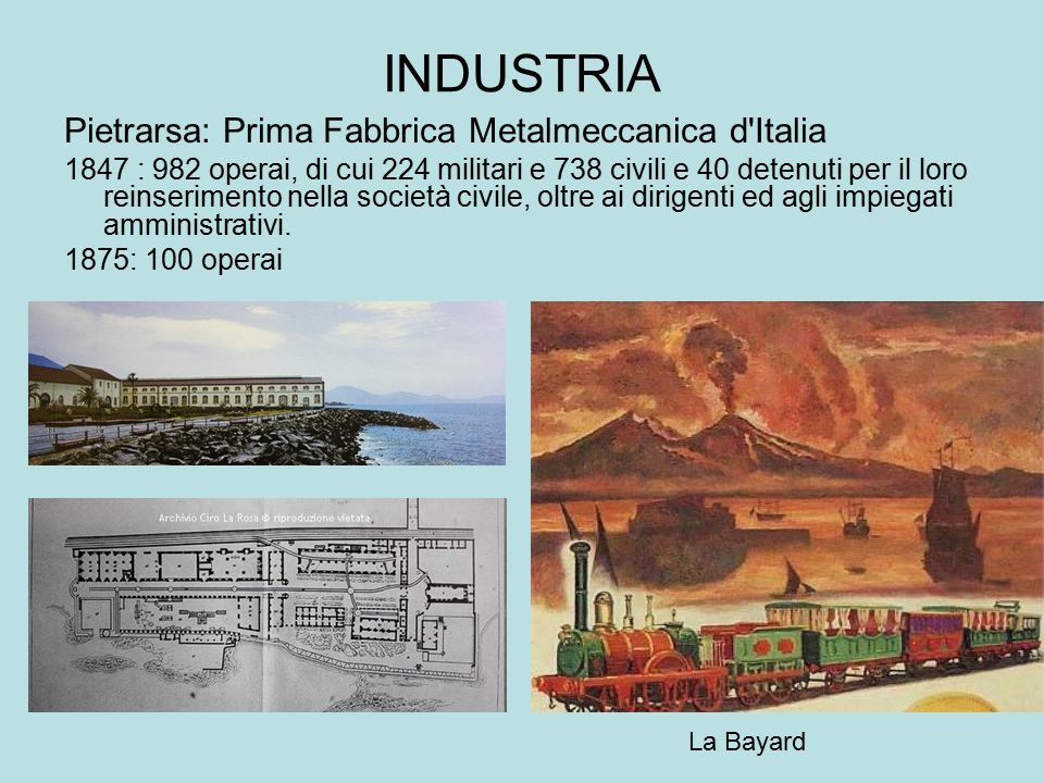 INDUSTRIA Pietrarsa: Prima Fabbrica Metalmeccanica d Italia