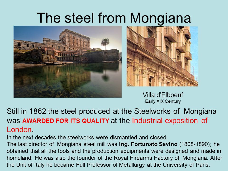 The steel from Mongiana