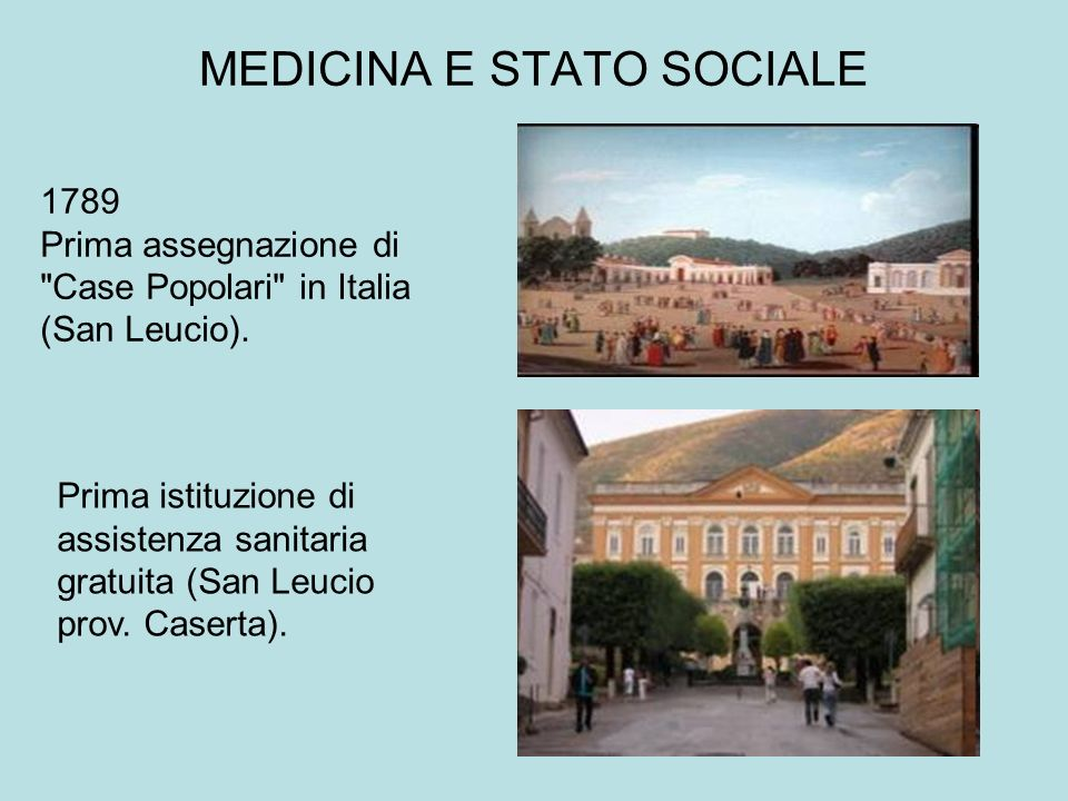 MEDICINA E STATO SOCIALE