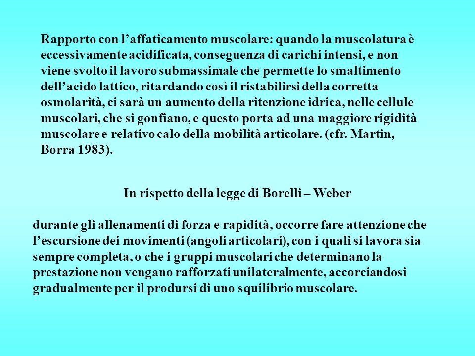 In rispetto della legge di Borelli – Weber
