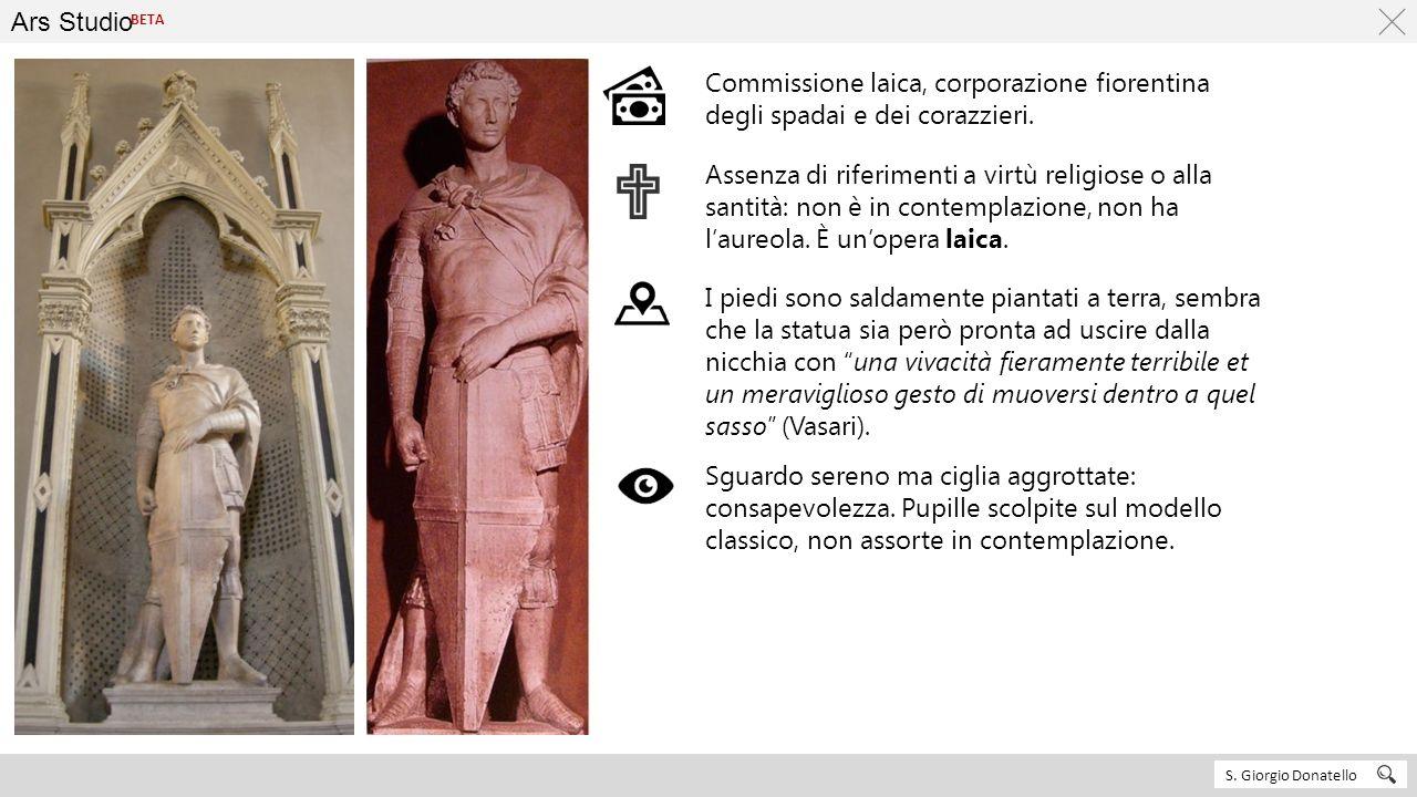 Ars Studio BETA. Commissione laica, corporazione fiorentina degli spadai e dei corazzieri.