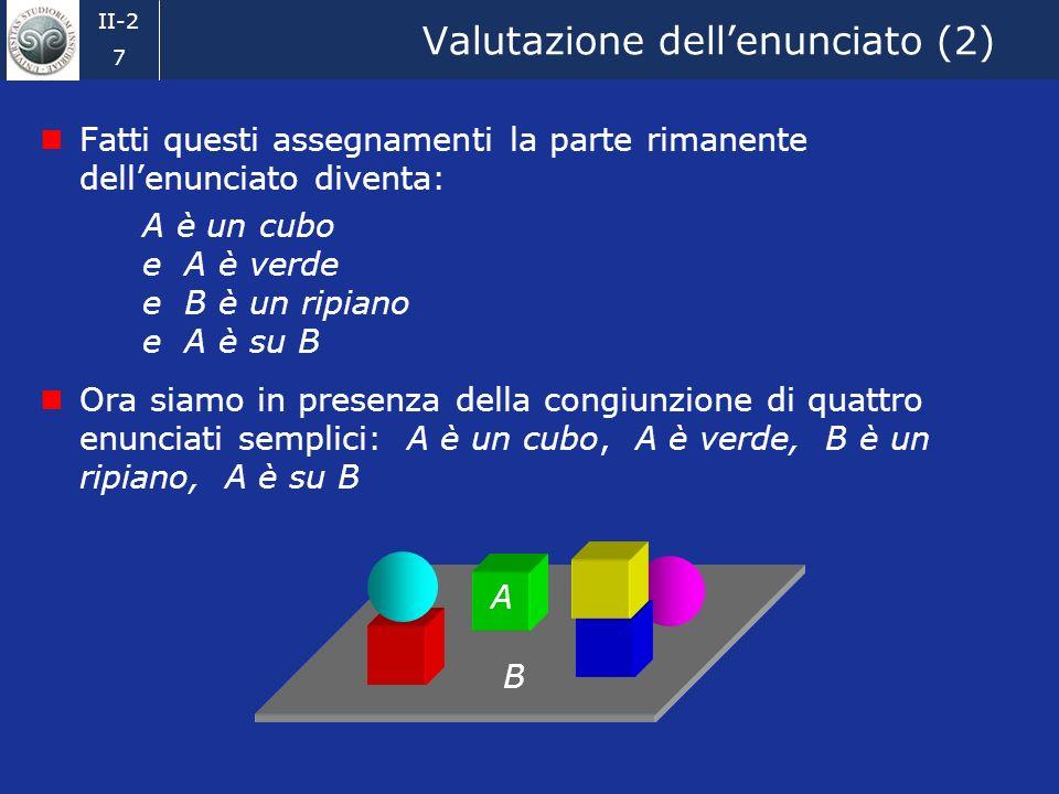 Valutazione dell'enunciato (2)