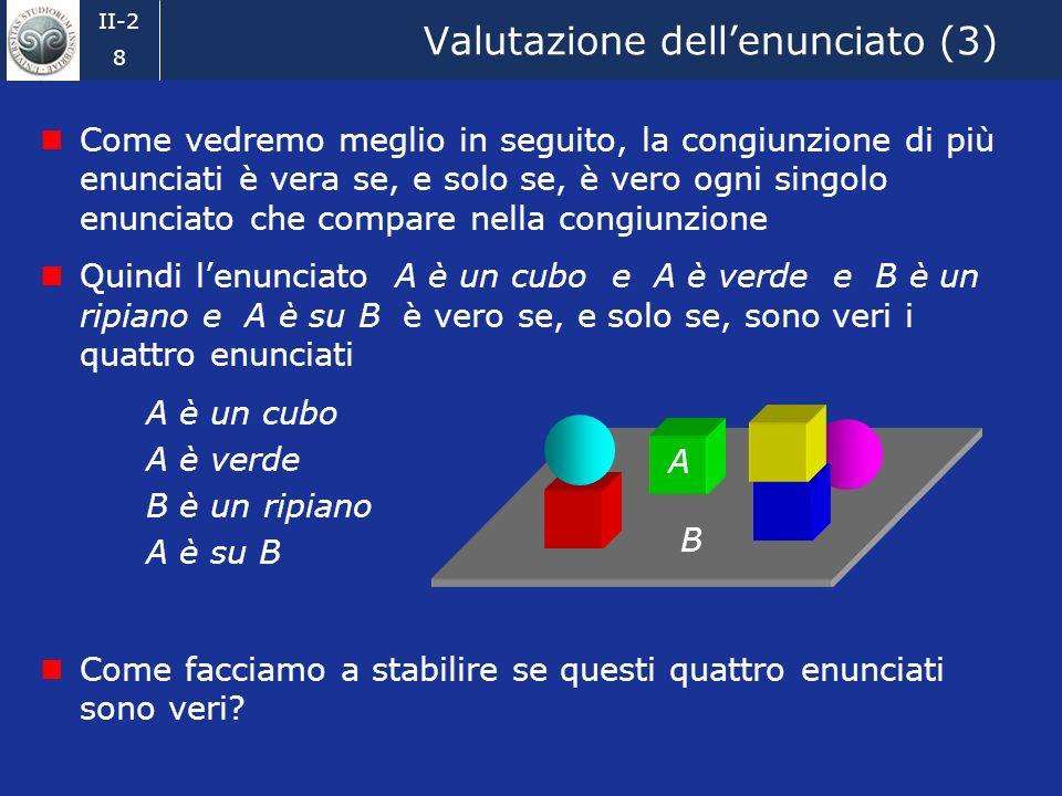 Valutazione dell'enunciato (3)