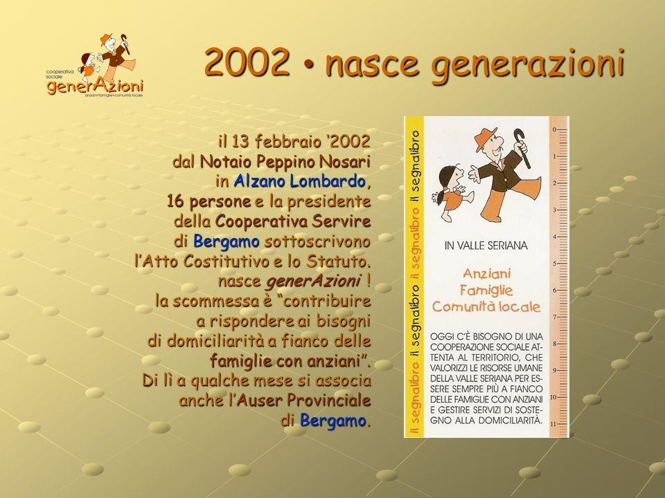2002 • nasce generazioni
