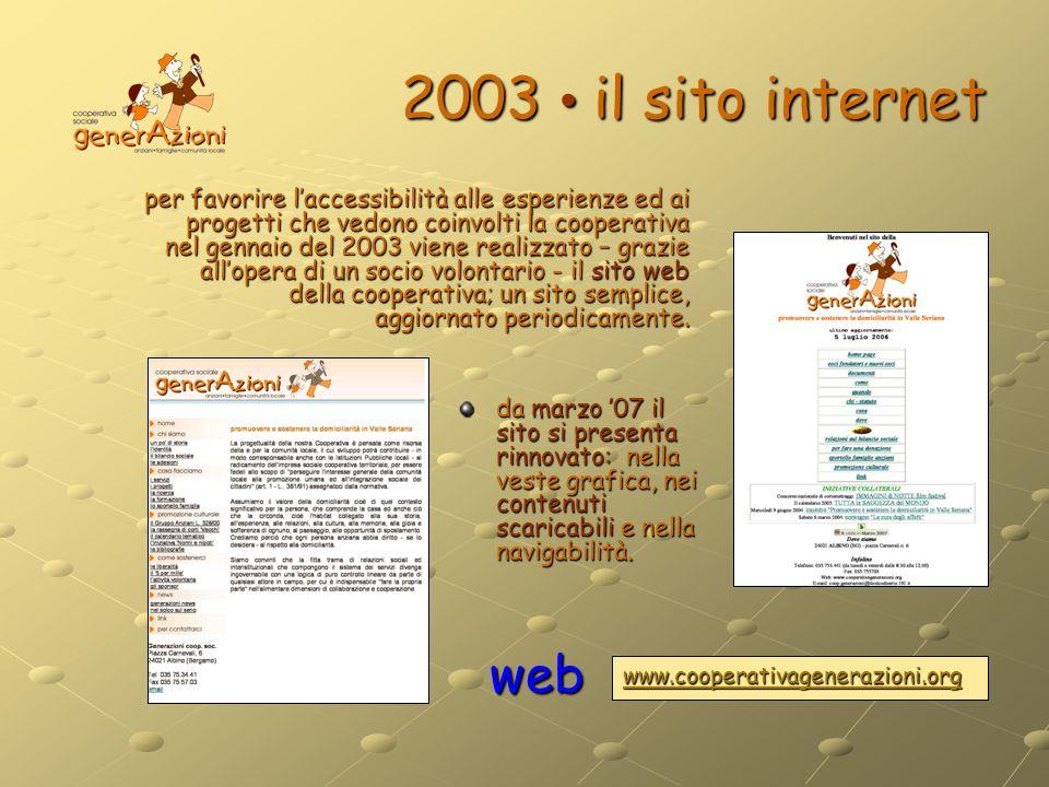 2003 • il sito internet