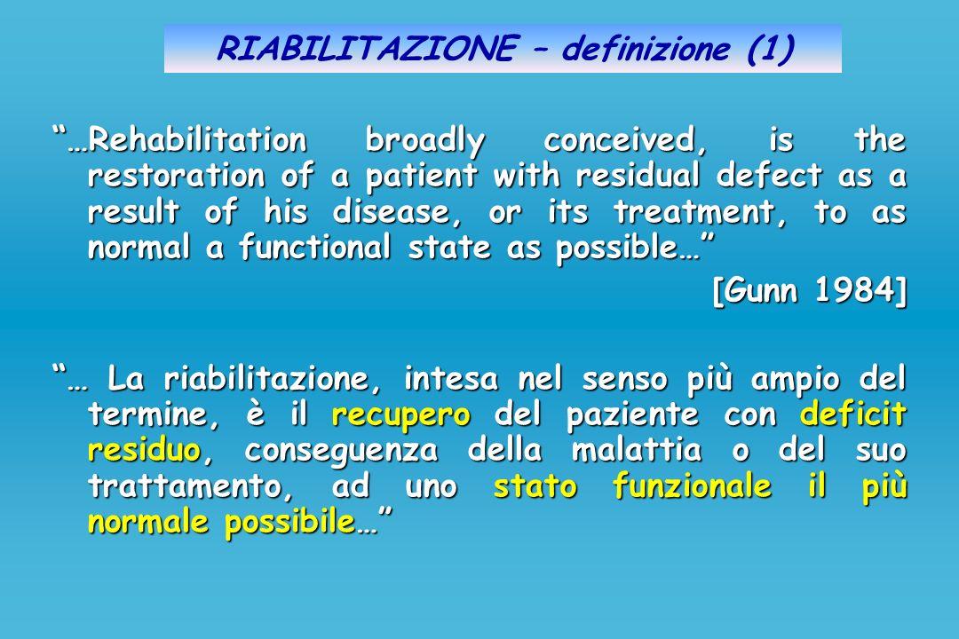 RIABILITAZIONE – definizione (1)