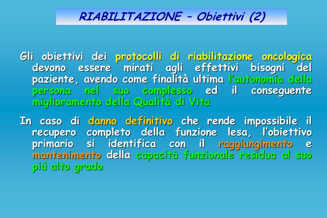 RIABILITAZIONE – Obiettivi (2)