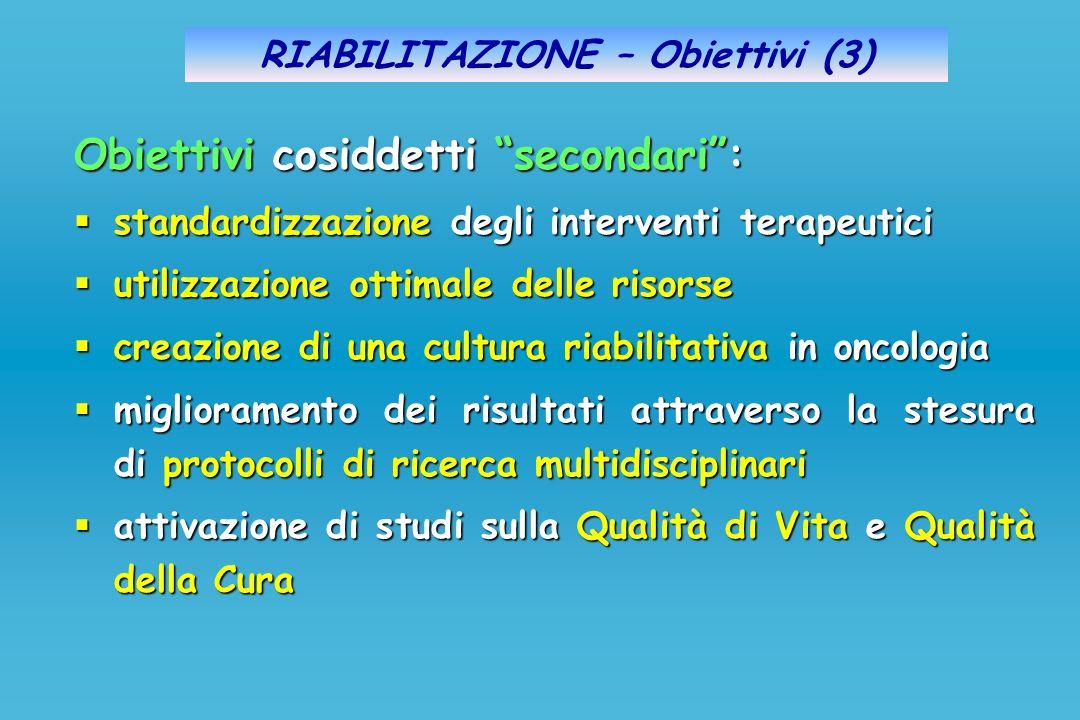 RIABILITAZIONE – Obiettivi (3)