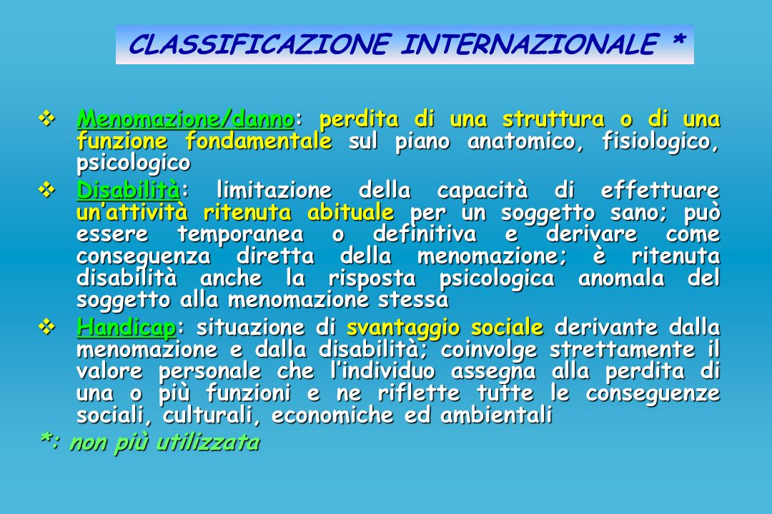 CLASSIFICAZIONE INTERNAZIONALE *