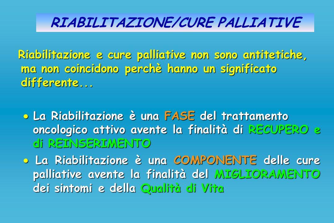 RIABILITAZIONE/CURE PALLIATIVE