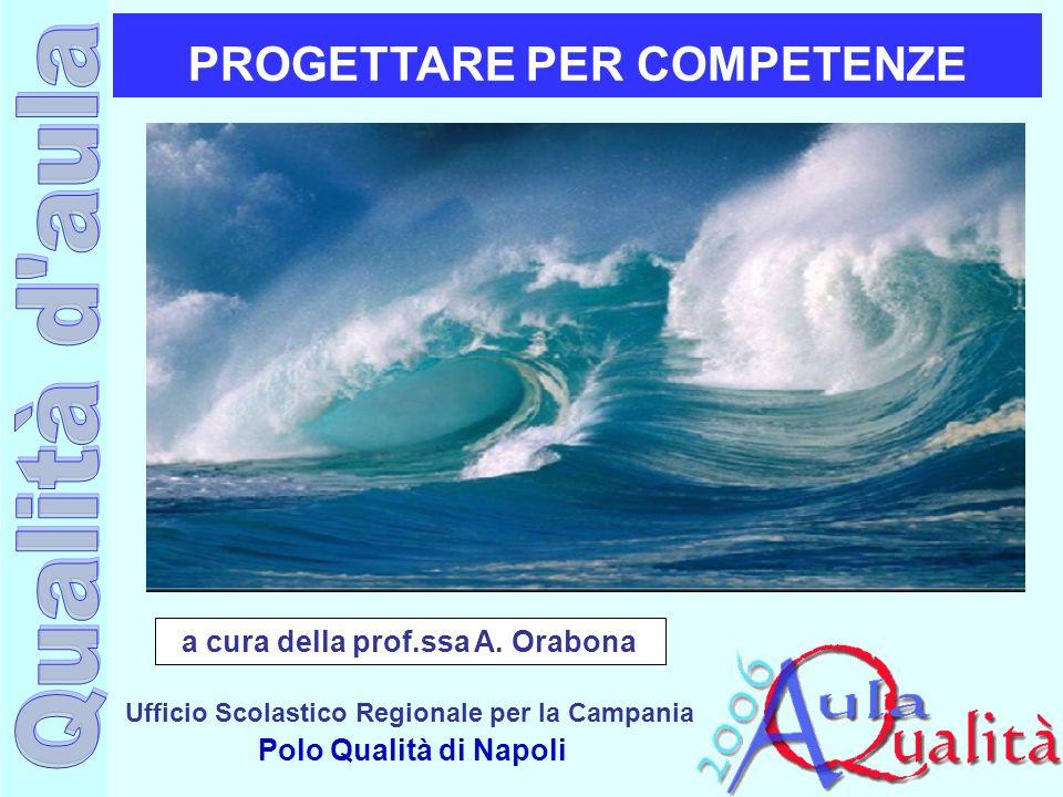 PROGETTARE PER COMPETENZE a cura della prof.ssa A. Orabona