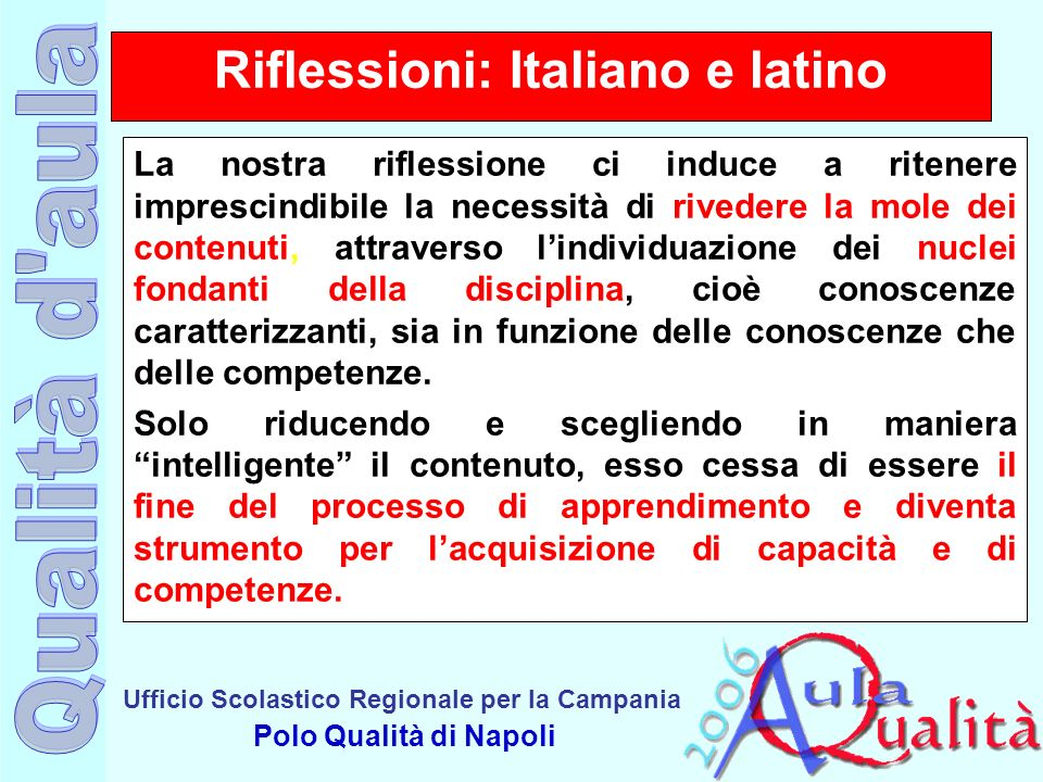 Riflessioni: Italiano e latino