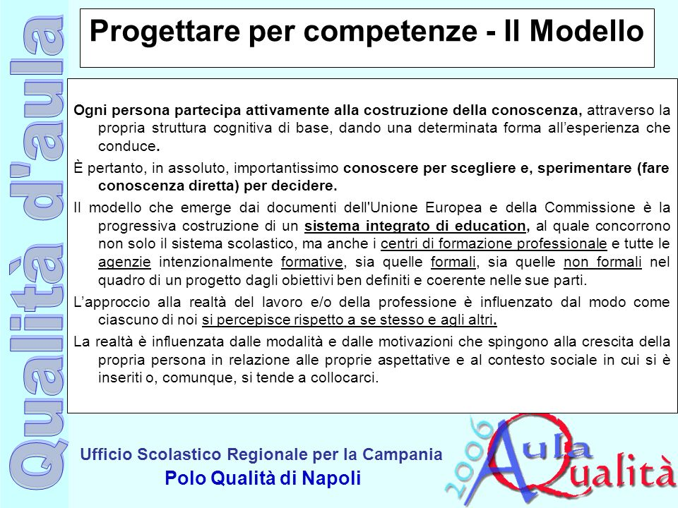Progettare per competenze - Il Modello