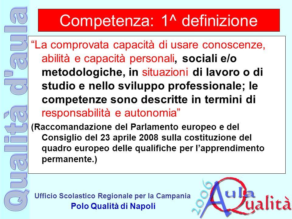 Competenza: 1^ definizione
