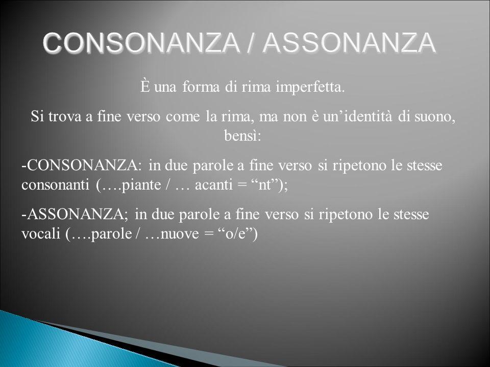 CONSONANZA / ASSONANZA
