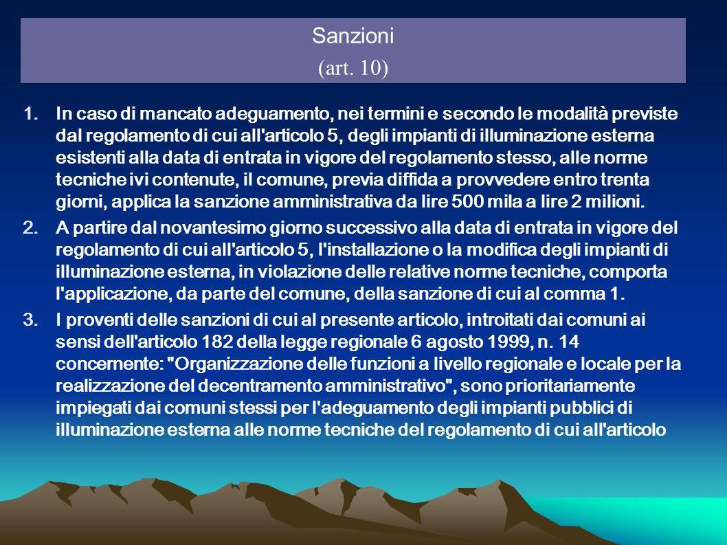 Sanzioni(art. 10)