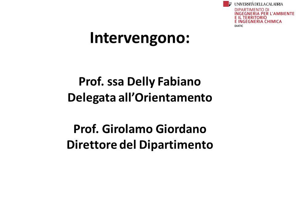 Intervengono: Prof. ssa Delly Fabiano Delegata all'Orientamento