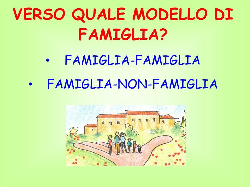 VERSO QUALE MODELLO DI FAMIGLIA
